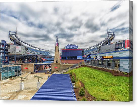 New England Revolution Canvas Print - Clouds Over Gillette Stadium by Brian MacLean