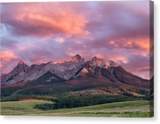 Clouds Over Hayden At Sunset Canvas Print