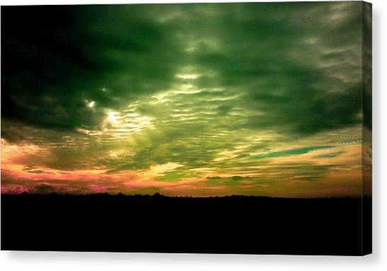 Clouds Over Ireland Canvas Print