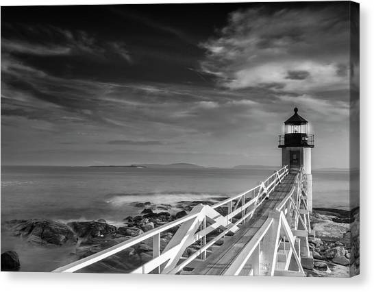 Clouds Over Marshall Point Lighthouse In Maine Canvas Print
