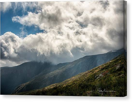 Clouds Over Mount Washington 7592 Canvas Print