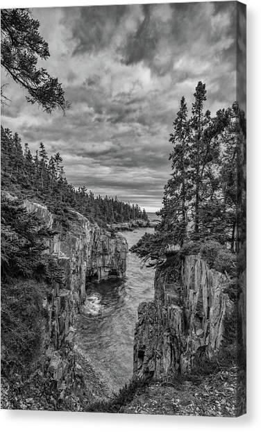 Clouds Over The Cliffs Canvas Print