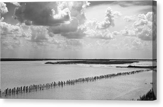 Clouds Over The Lake. Sivash, 2011. Canvas Print