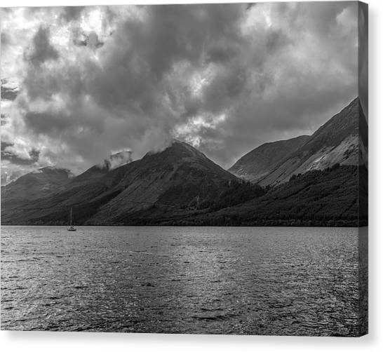 Clouds Over Loch Lochy, Scotland Canvas Print