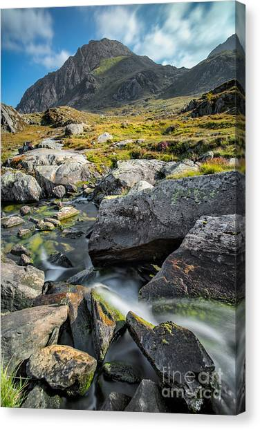 Tryfan Mountain Canvas Print - Clouds Over Tryfan by Adrian Evans