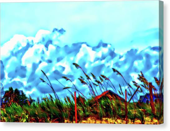 Clouds Over Vilano Beach Canvas Print