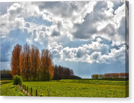 Clouds Over Voorne Canvas Print