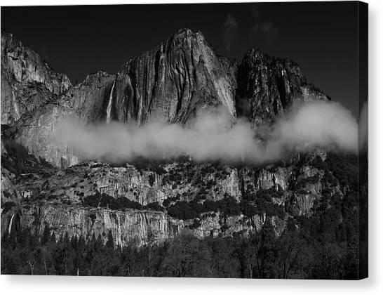 Yosemite Falls Canvas Print - Clouds by Ralph Vazquez