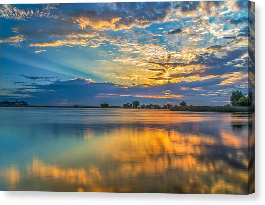 Contra Canvas Print - Clouds Reflected At Sunrise by Marc Crumpler