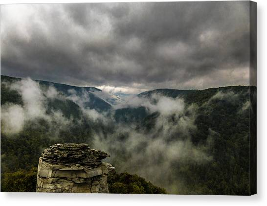 Clouds Rising At Lindy Point Canvas Print