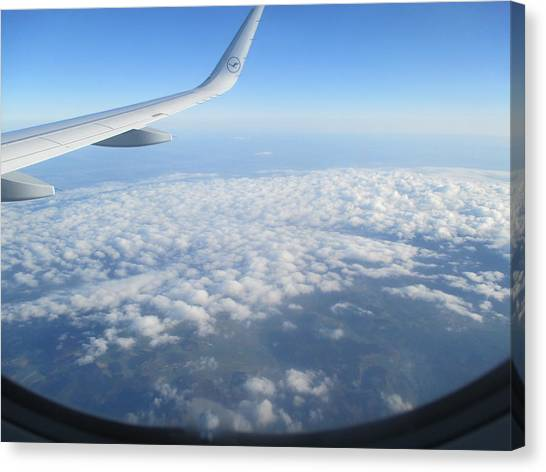 Flying Canvas Print - Clouds Seen From The Airplane by Anamarija Marinovic