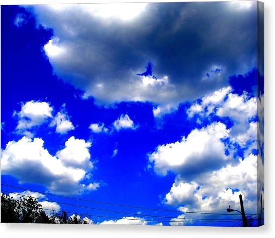 Clouds Study  1 Canvas Print by Teo Santa