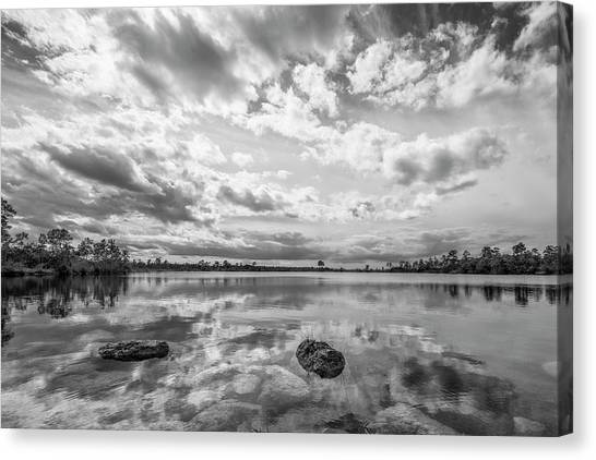 Everglades Canvas Print - Clouds Touching The Water by Jon Glaser