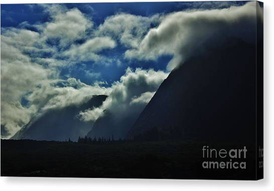 Kalaupapa Cliffs Canvas Print - Clouds Two by Craig Wood