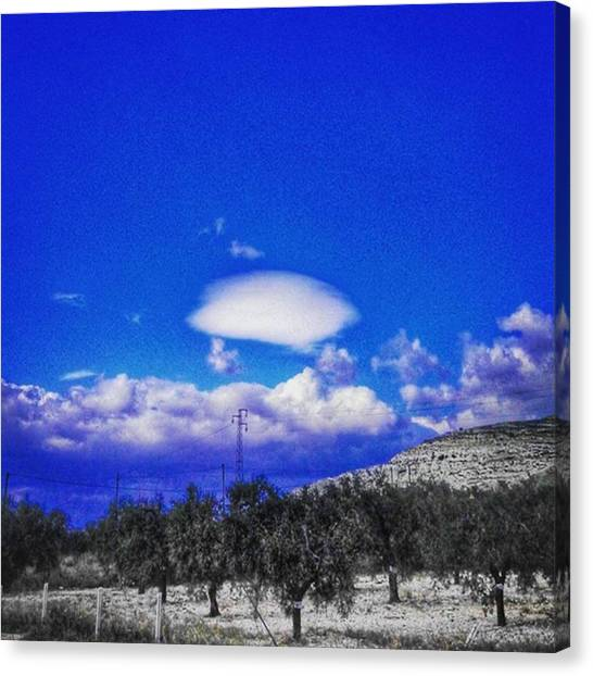 Ufos Canvas Print - #clouds #ufocloud #sky #countryside by Michele Stuppiello