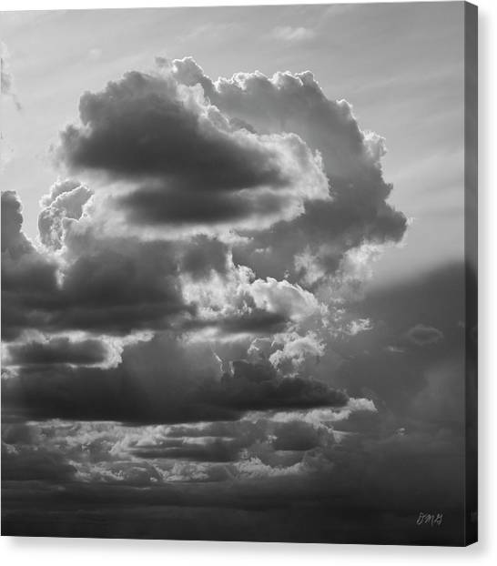 Cloudscape Xv Bw Sq Canvas Print