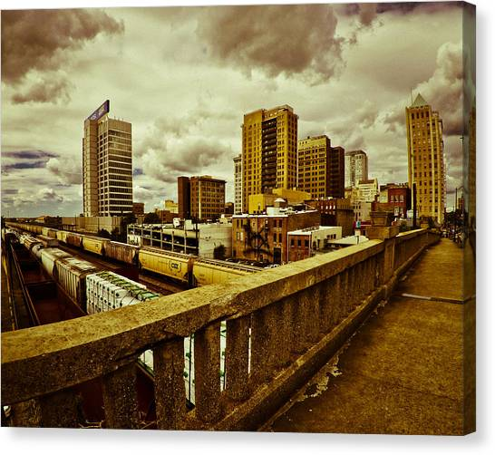Cloudy Birmingham Canvas Print