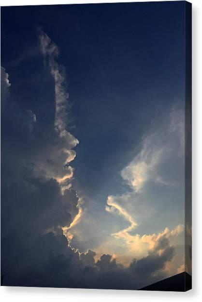 Cloudy Conversation Canvas Print