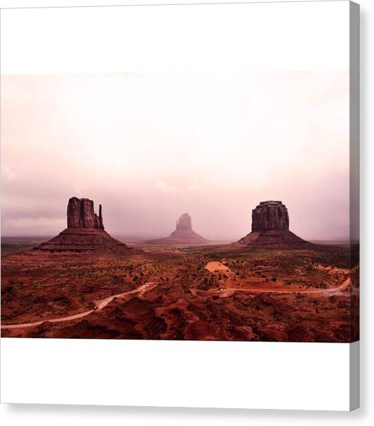 Scotty Canvas Print - Cloudy Day At Monument Valley Before by Scotty Brown
