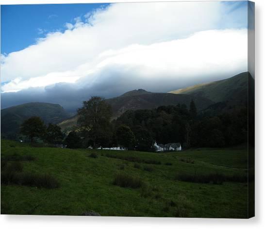 Cloudy Hills Canvas Print