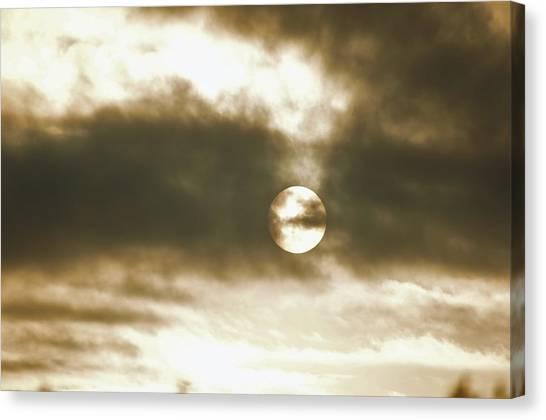 Cloudy Sun Canvas Print