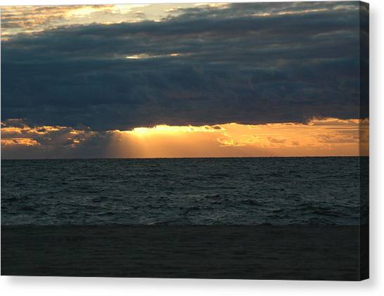Cloudy Sunrise Canvas Print by See Me Beautiful Photography