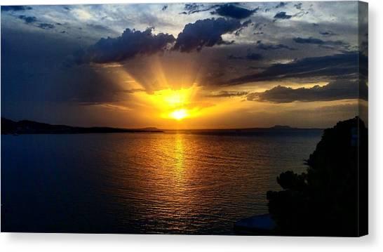 Kirby Canvas Print - Cloudy Sunset by Paul W