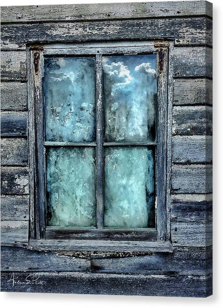 Cloudy Window Canvas Print