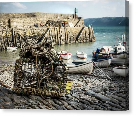 Clovelly Crab Trap Canvas Print