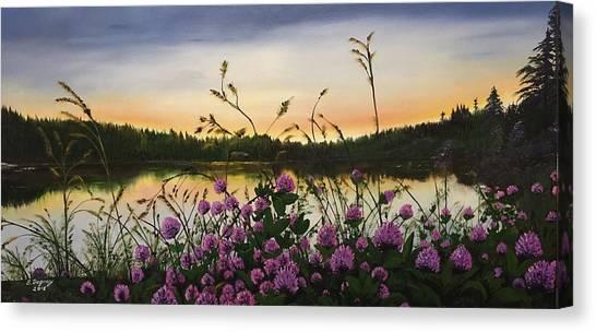 Clover Sunrise  Canvas Print