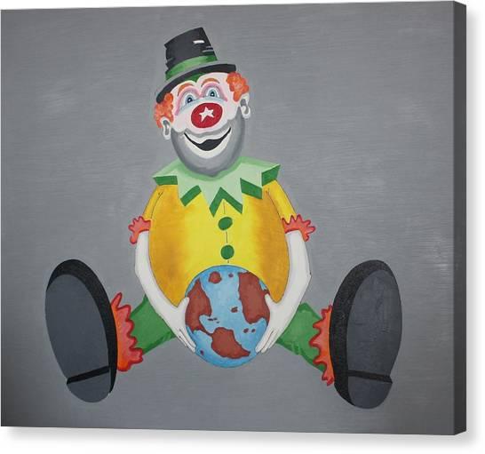 Clown Eleven Canvas Print by Frank Parrish