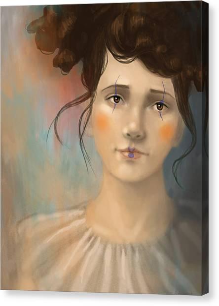 Clown Girl Canvas Print