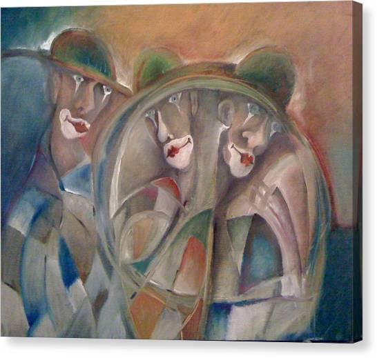 Clowns Canvas Print by Gyorgy Szilagyi