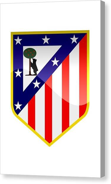 Soccer Teams Canvas Print - Club Atletico De Madrid by David Linhart