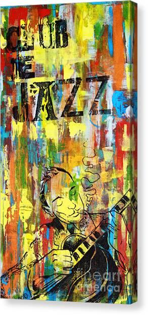 Jazz Canvas Print - Club De Jazz by Sean Hagan