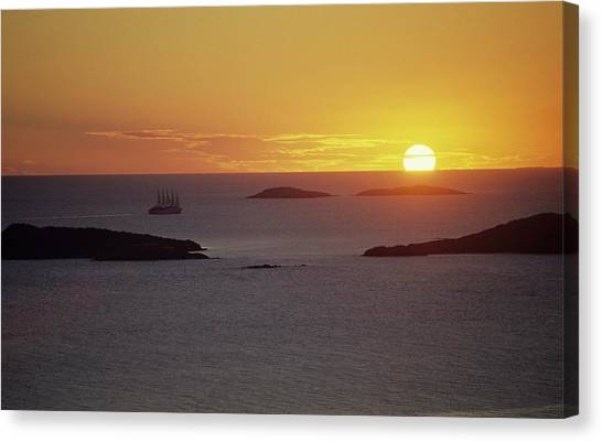 Club Med Sailing Into Sunset Canvas Print