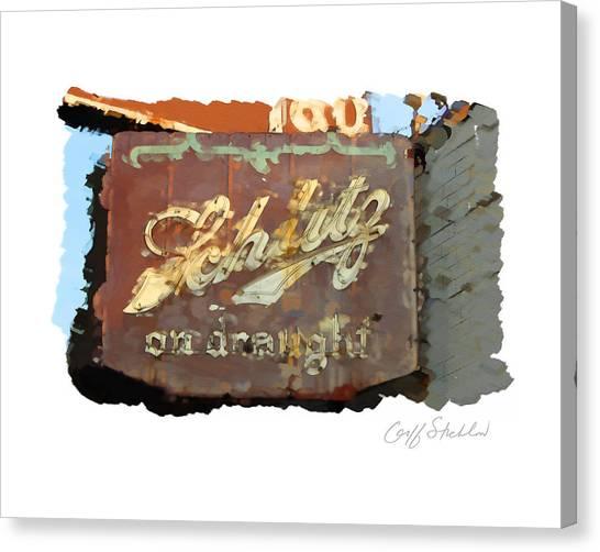 Club Tap Sign Canvas Print