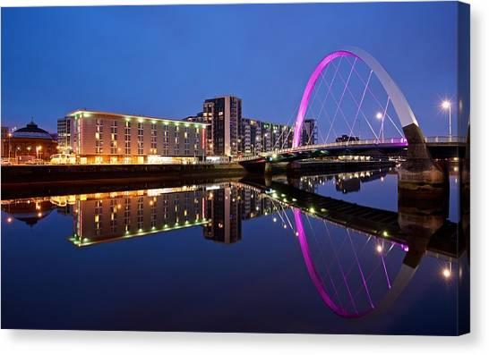 Clyde Arc Glasgow Canvas Print