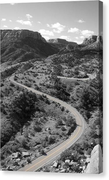 Canvas Print featuring the photograph Cnm Switchbacks by Dylan Punke