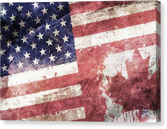 Independence Day Canvas Print - Co-patriots  by Az Jackson