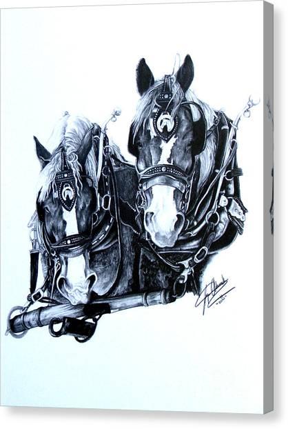 Co Workers Canvas Print by Paper Horses Jacquelynn Adamek