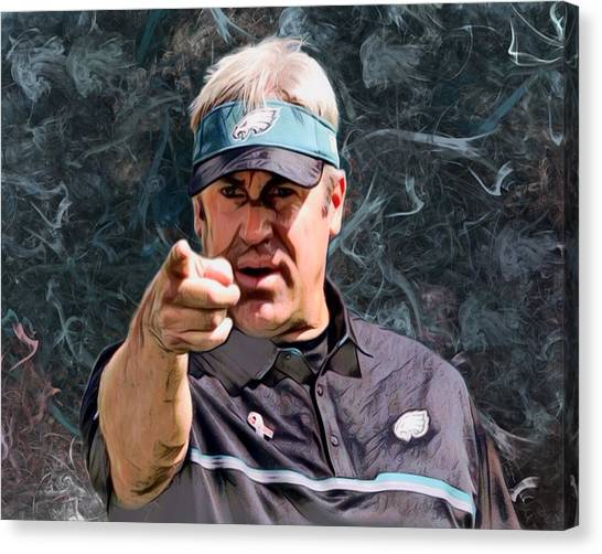 Dan Marino Canvas Print - Coach Douglas Pederson  by Scott Wallace
