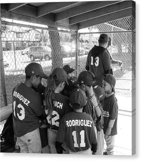 Baseball Teams Canvas Print - Coach Of The Year 2013  by Leah McPhail