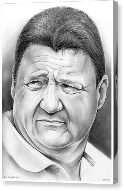 Lsu Canvas Print - Coach Orgeron by Greg Joens