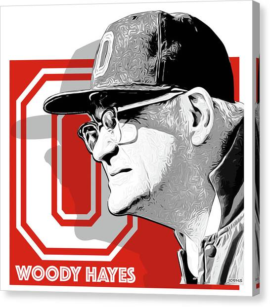 Ohio University Canvas Print - Coach Woody Hayes by Greg Joens