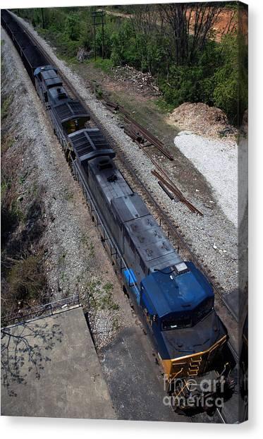 Coal Crossing Canvas Print