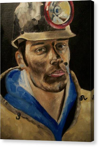 Coal Miner Canvas Print by Mikayla Ziegler