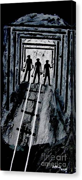 Canvas Print - Coal Miners At Work by Jeffrey Koss