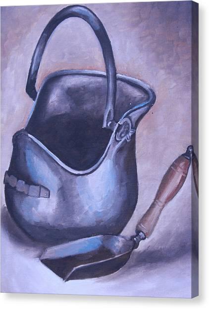 Coal Pail Canvas Print by Mikayla Ziegler