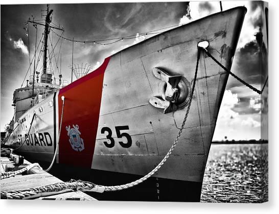 Coast Guard Canvas Print by Alessandro Giorgi Art Photography